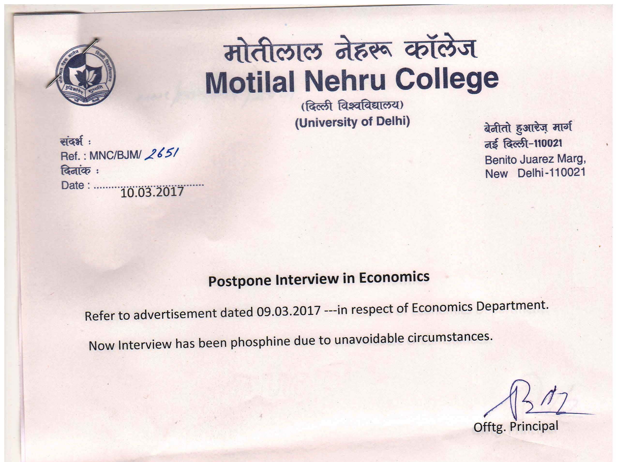 news university of delhi news